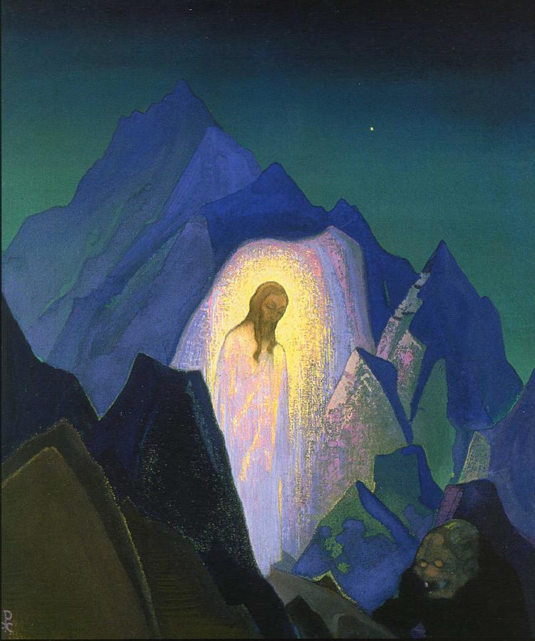Николай Рерих. Христос в пустыне