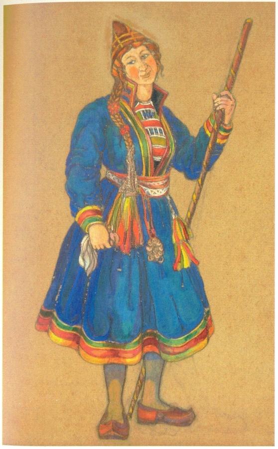 Николай Рерих. Женщина с посохом
